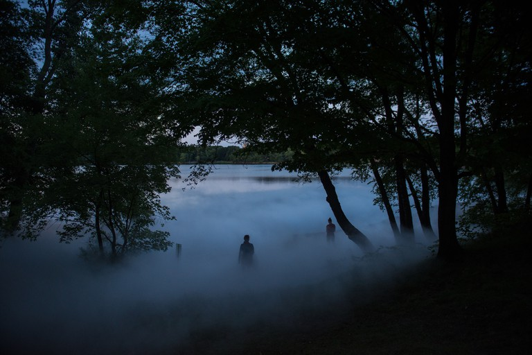 Jamaica Pond of _Fog x FLO's Fog x Pond_ by Melissa Ostrow 2