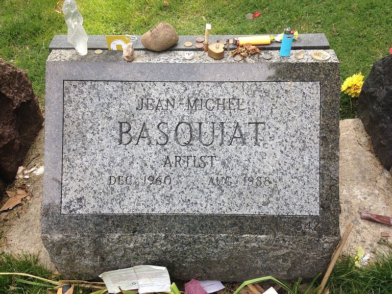 Grave of Jean-Michel Basquiat at Green-Wood Cemetery, Brooklyn, New York