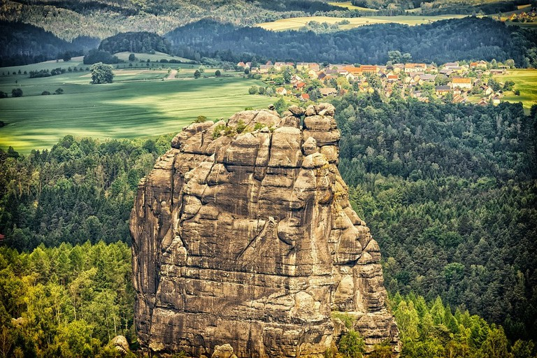 The craggy rocks of Saxon Switzerland National Park