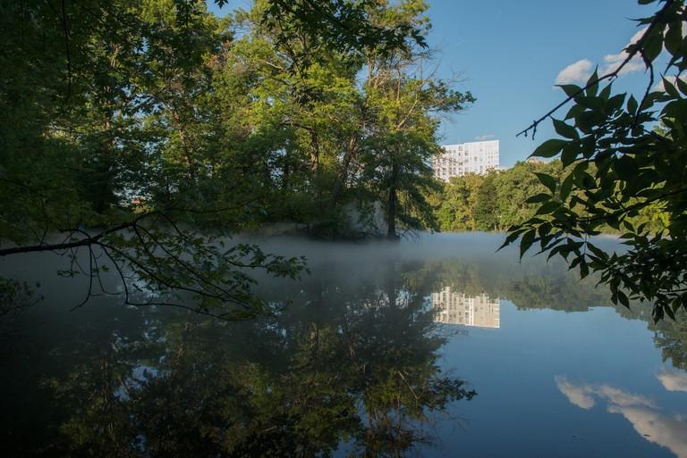 Leverett Pond of _Fog x FLO's Fog x Island_ by Melissa Ostrow 2
