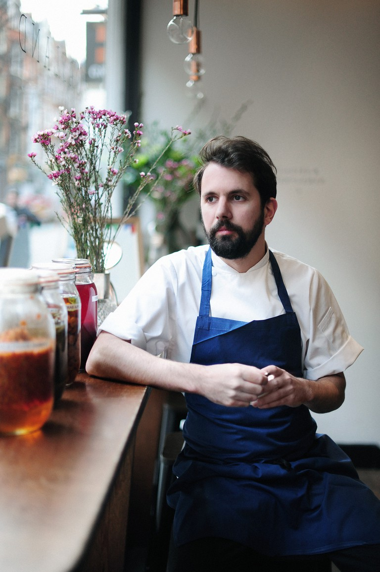 Chef Merlin Labron-Johnson, who received his first Michelin star at the tender age of 24