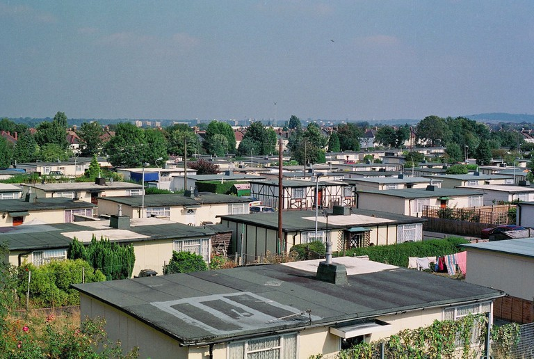 The Excalibur Estate, post-war prefab estate in Catford, South London 2002-2004