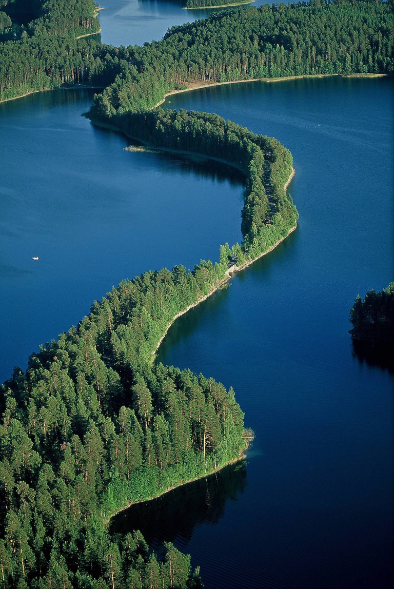 Punkaharju is famous for its ridges and lakes.