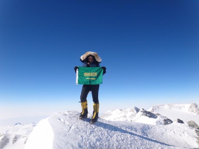 Moharrak's father was not keen on her climbing mountains
