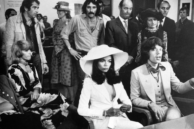 Mick Jagger and Bianca Jagger get married in St Tropez, France. 12 May 1971