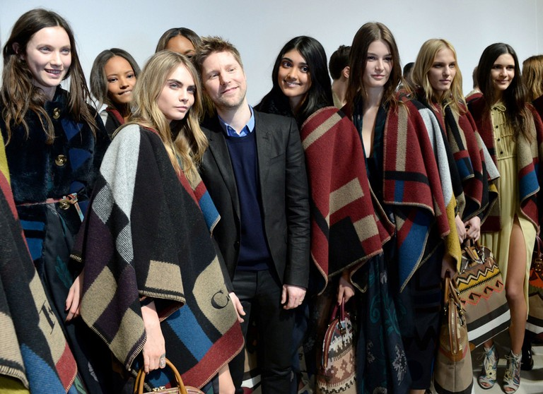Cara Delevingne and Christopher Bailey