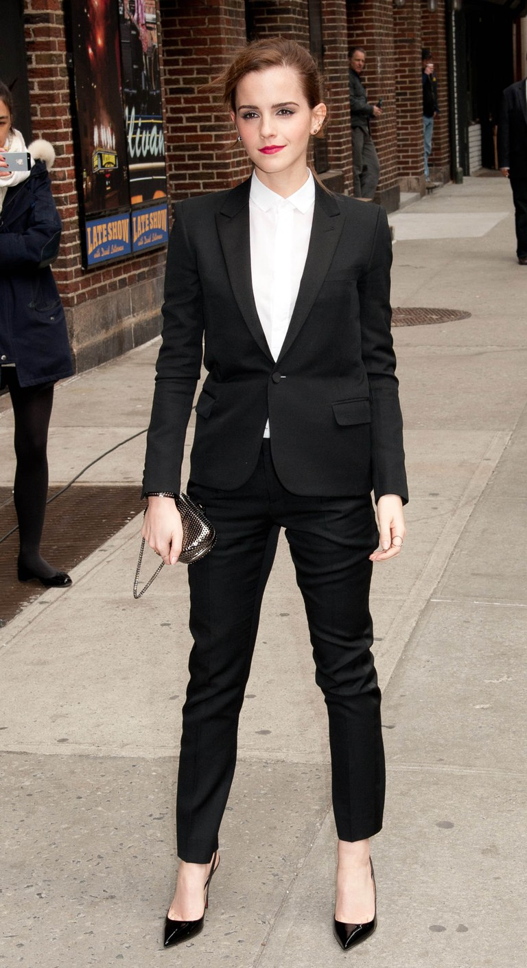 Emma Watson wearing Saint Laurent