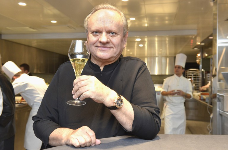 Joel Robuchon in the Kitchen of the Hotel De Ville in Crissier