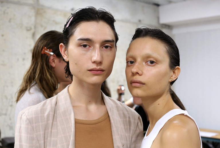 Eckhaus Latta show, Backstage, Spring Summer 2018, New York Fashion Week.