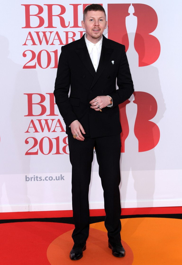 Professor Green at the 38th Brit Awards, London.
