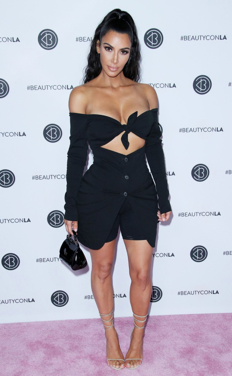 Kim Kardashian at Los Angeles Beautycon Festival
