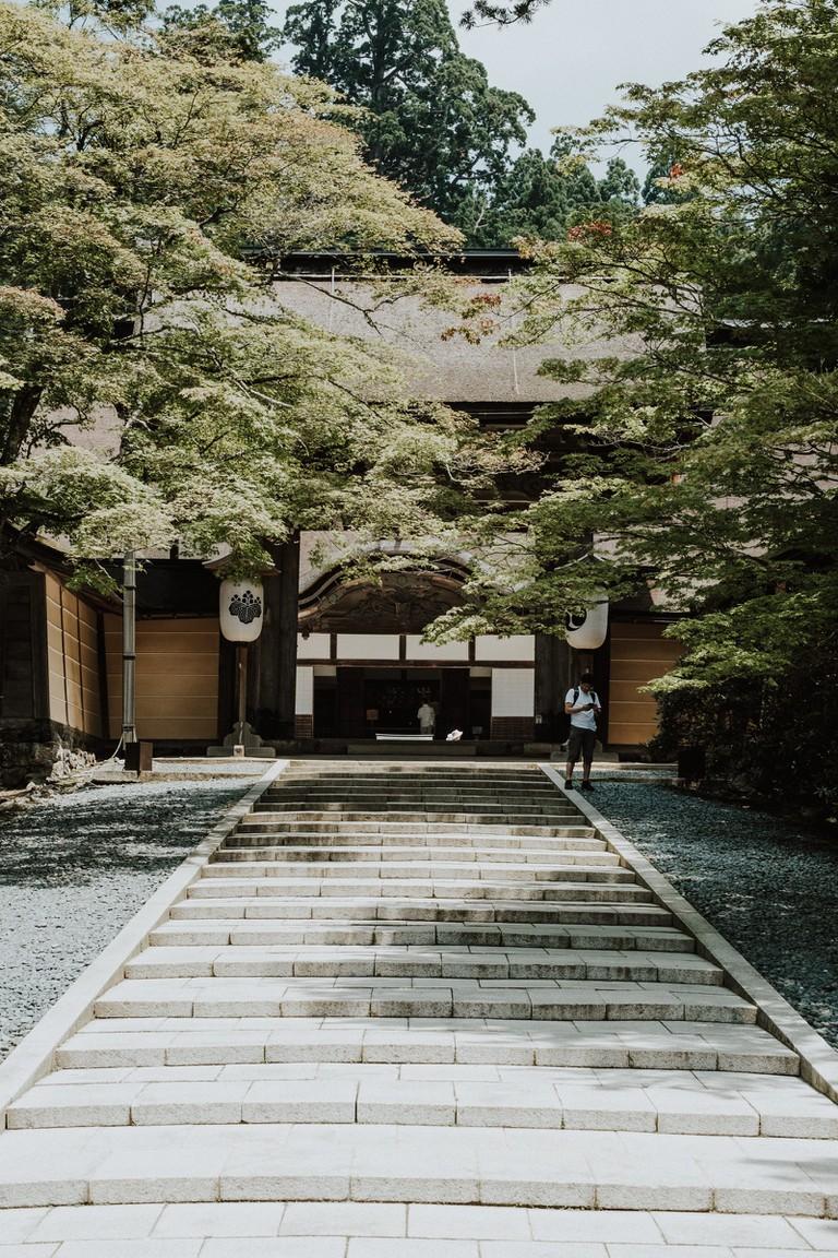Kongōbu-ji and its rock garden-Mount Koyasan-Japan