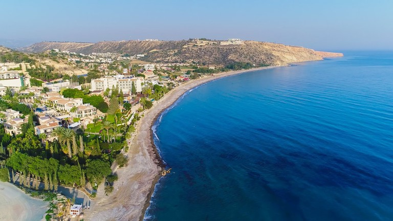 Pissouri bay, a village settlement between Limassol and Paphos in Cyprus