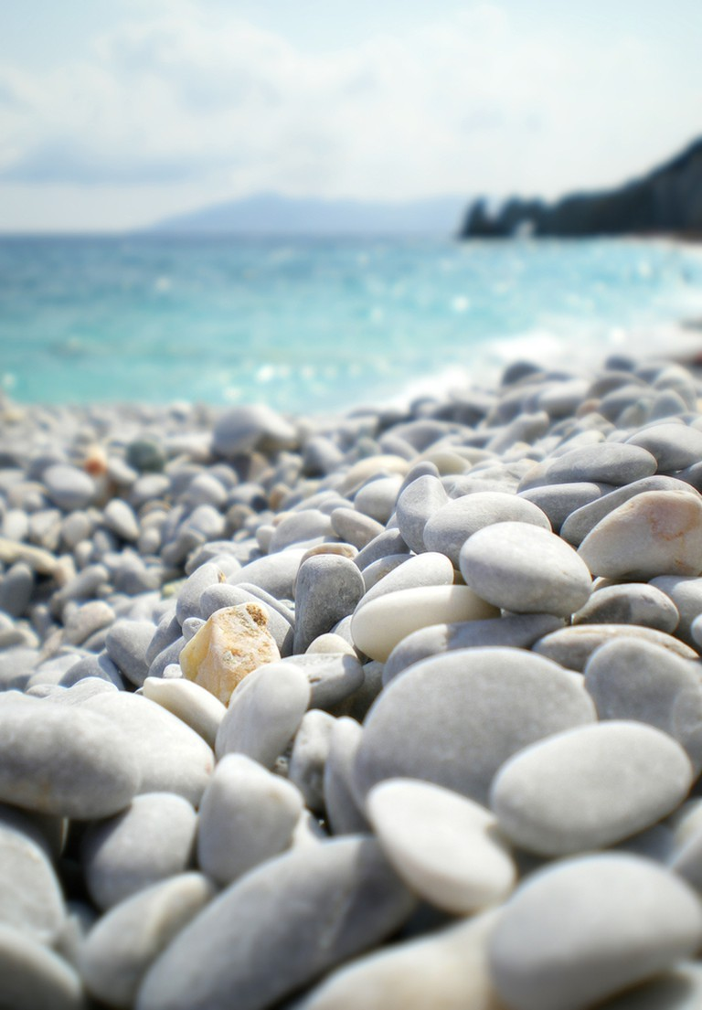 Pebble in Lalaria beach, Skiathos, Greece