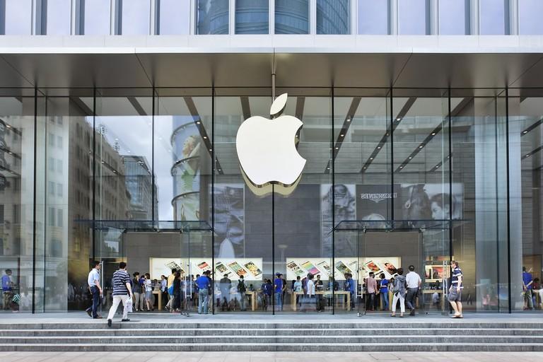 Apple store in Nanjing East Road, Shanghai.