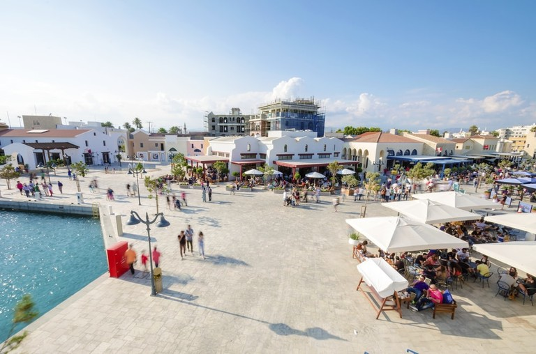 First week that the Marina in Limassol city opened to the public