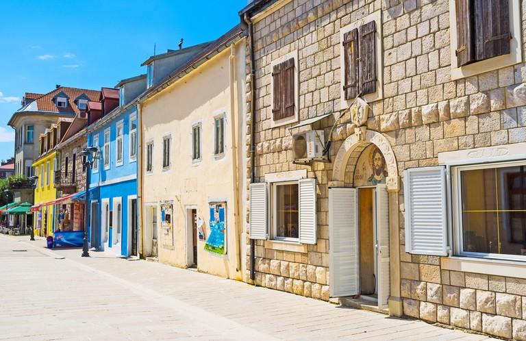 Street in Cetinje, Montenegro.