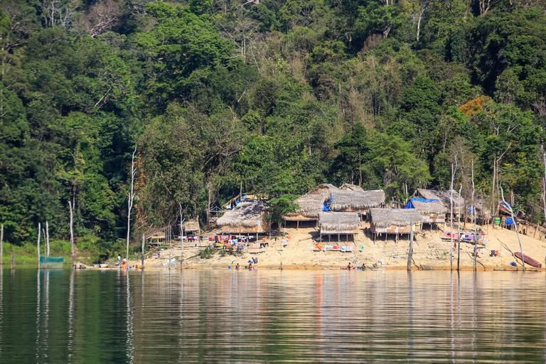 An Orang Asli village deep in the rainforest