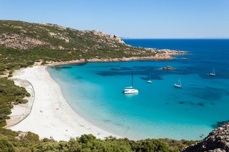 Roccapina beach in Corsica island, France |© Baud Adrien / Shutterstock