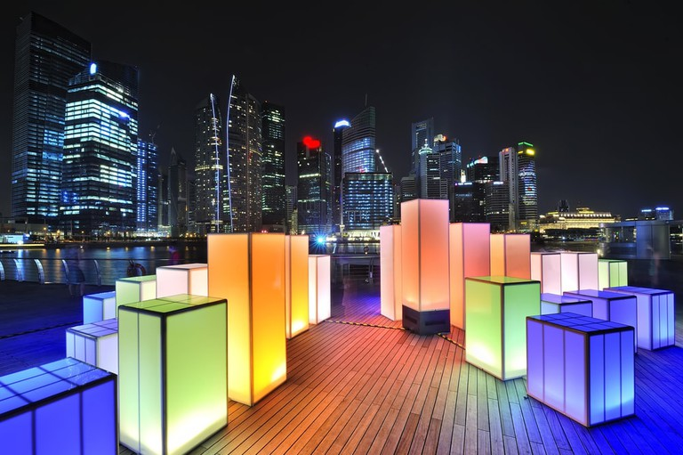 Sustainable Light Art Festival at Marina Bay, Singapore.