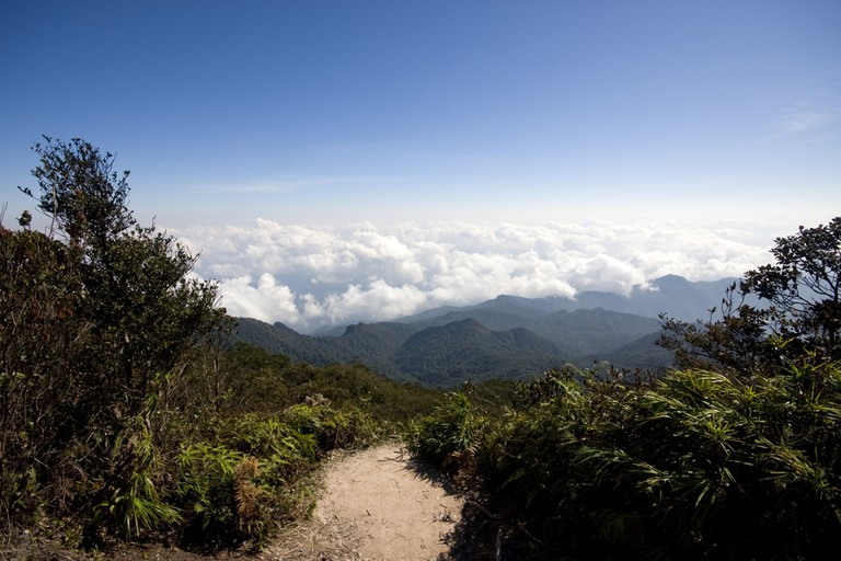One of the many views along the scenic trails to the summit
