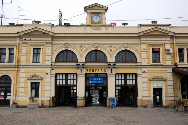 Railway station in Belgrade, Serbia.