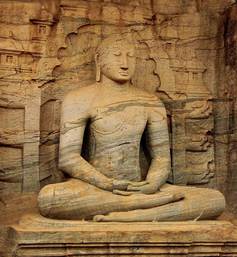 Granite Buddha Statue at Gal Viharaya, Polonnaruwa