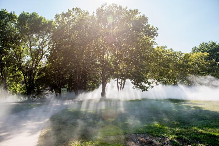 The Fens Fog Sculpture, _Fog x FLO's Fog x Canopy_ by Melissa Ostrow 14