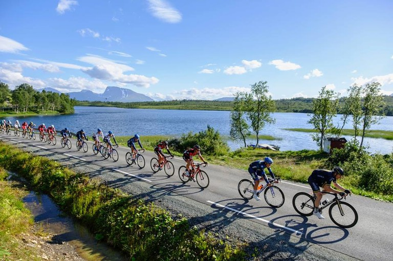 The race follows a beautiful terrain, Courtesy of Arctic Race Norway