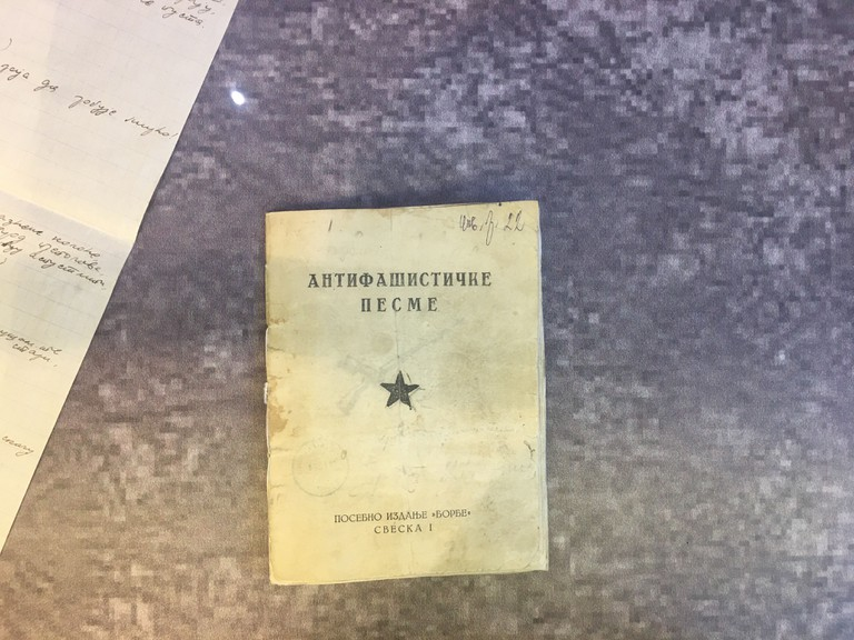 A book of anti-fascist songs published in Serbia during World War II