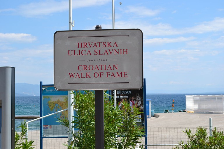 The Croatian Walk of Fame is a recent addition to Opatija's tourist offer