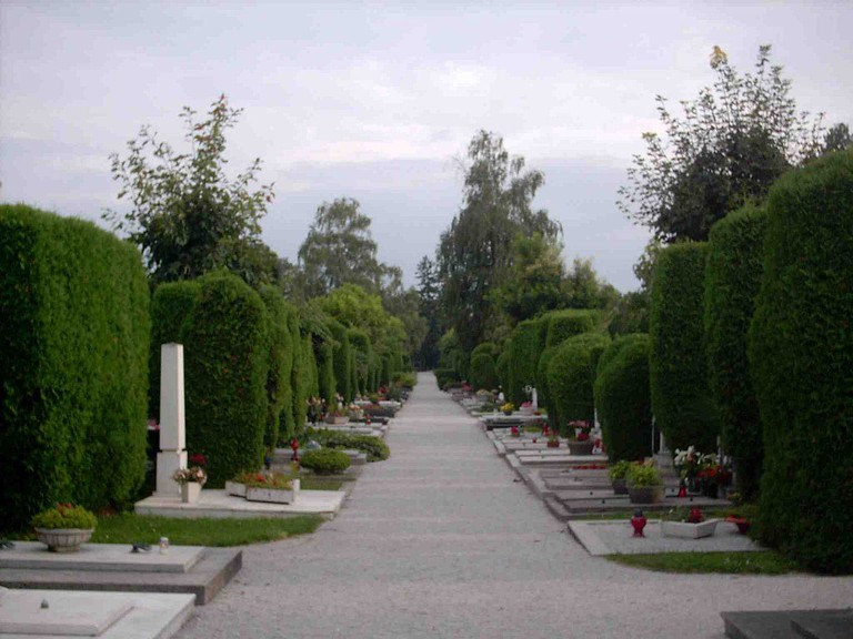 The elegant cemetery in Varaždin, Croatia