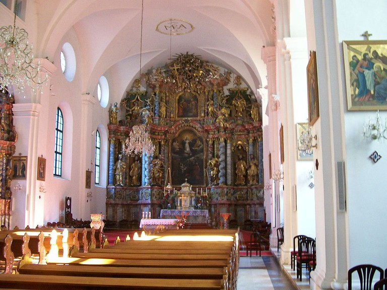 The interior of Varaždin Cathedral