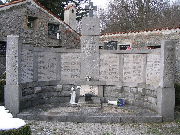 The monument to the victims of fascism in Lipa near Opatija, Croatia