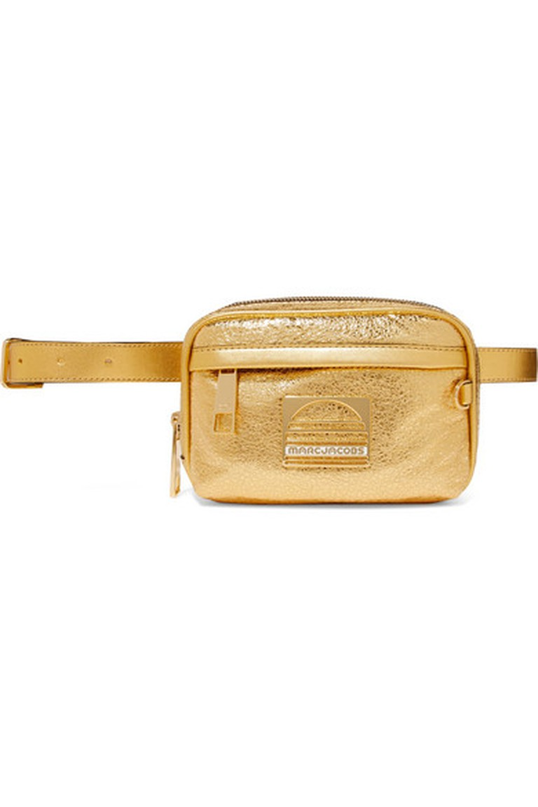 Marc Jacobs's Sport metallic textured-leather belt bag
