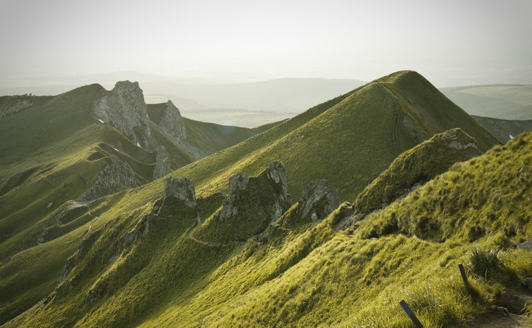 The green peeks of the Auvergne region