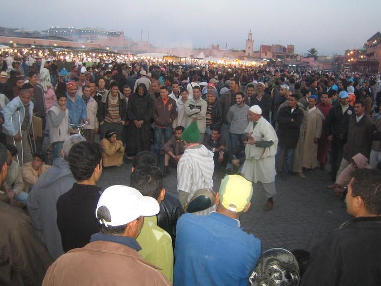 Storytellers in Jemaa el-Fnaa