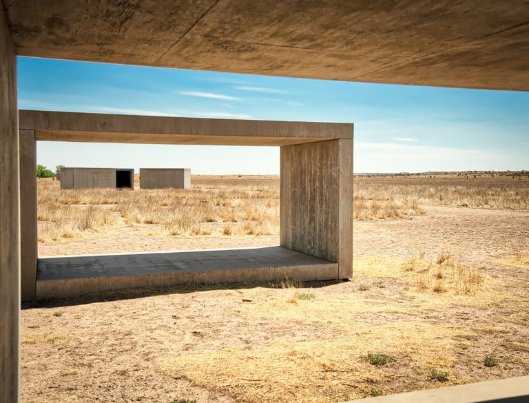 These concrete works by Donald Judd were the first works to be installed at the museum and were cast and assembled on the site over a four-year period, from 1980 through 1984