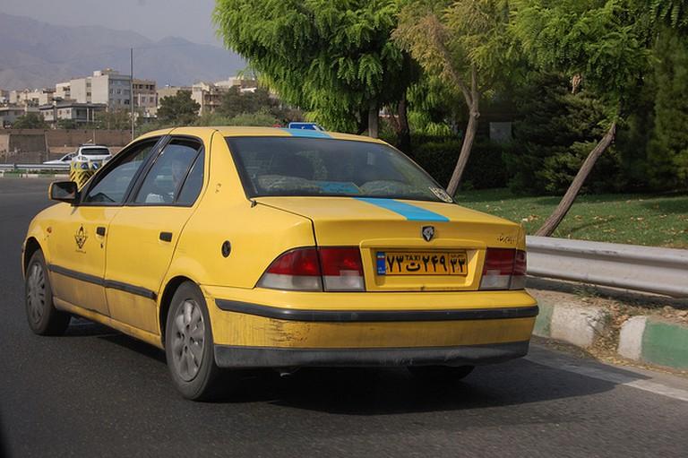 A taxi in Tehran