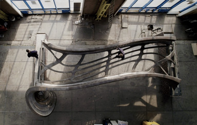 8. MX33D Printed Bridge Top View by Joris Laarman Lab