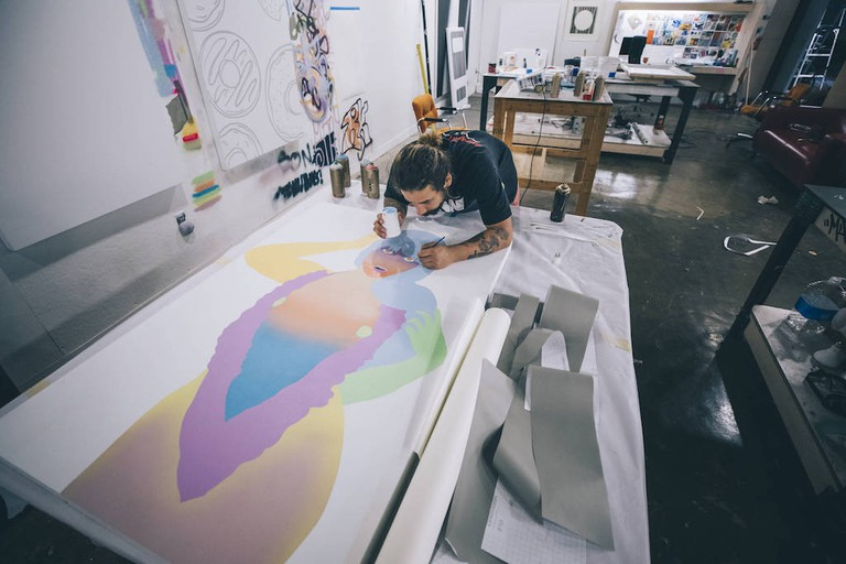 Artist-in-residence Jason Pulgarin at Red Bull House Of Art, Residency 8 in Detroit, Michigan, USA on 12 June, 2018