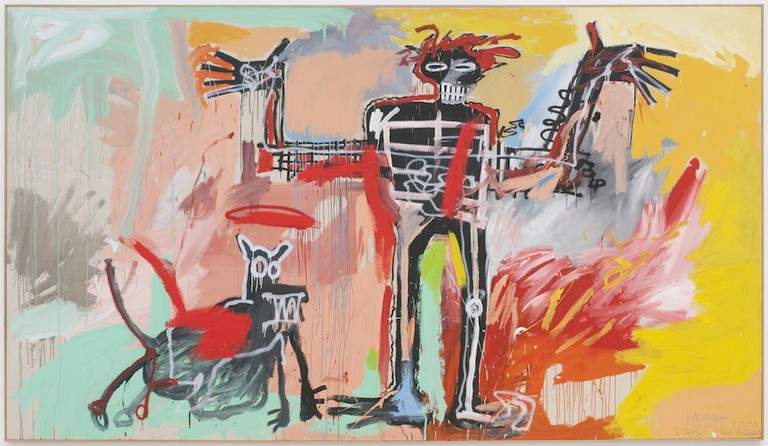 Jean-Michel Basquiat, 'Boy and Dog in a Johnnypump' (1982)