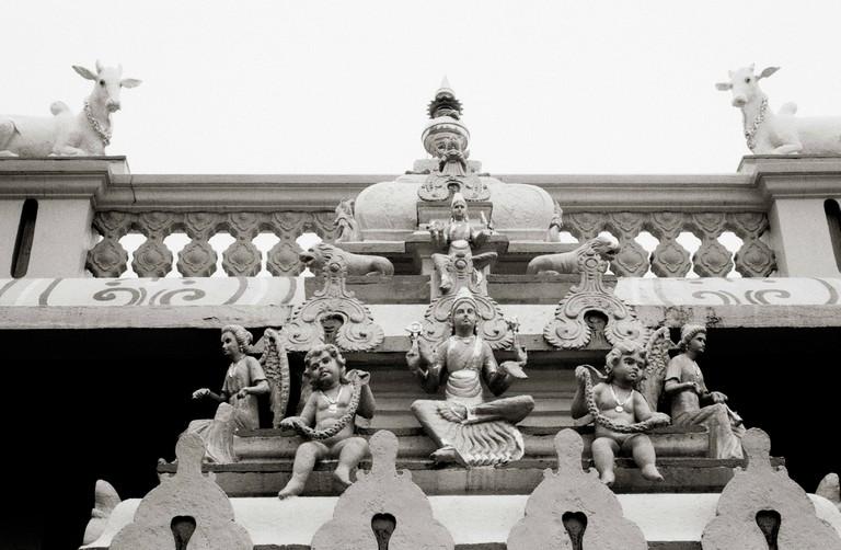 Hindu temple Sri Manmatha Karuneshvarar temple in Singapore.