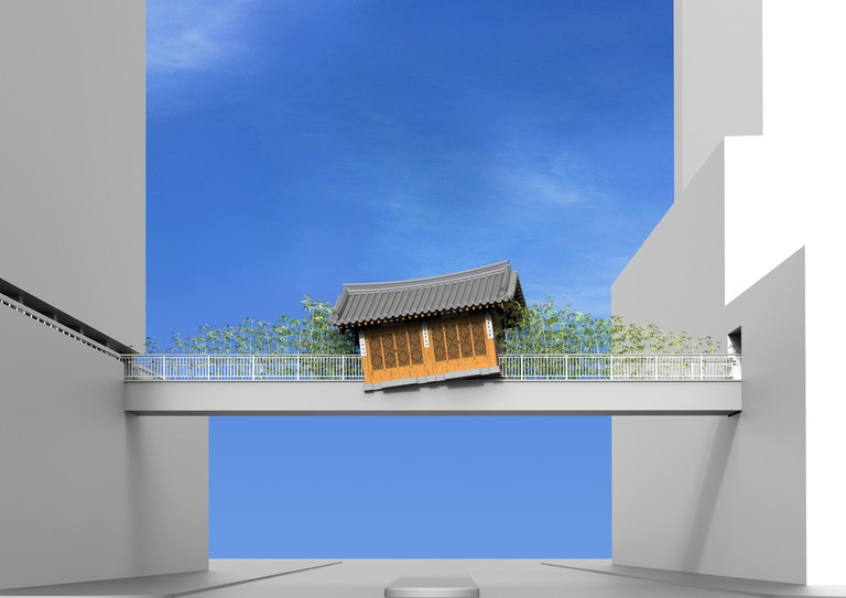 Do Ho Suh, rendering for _Bridging Home, London_2018