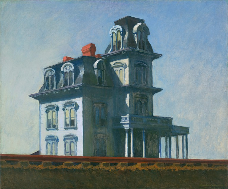 Edward Hopper, House by the Railroad, 1925 in MoMA's collection in New York