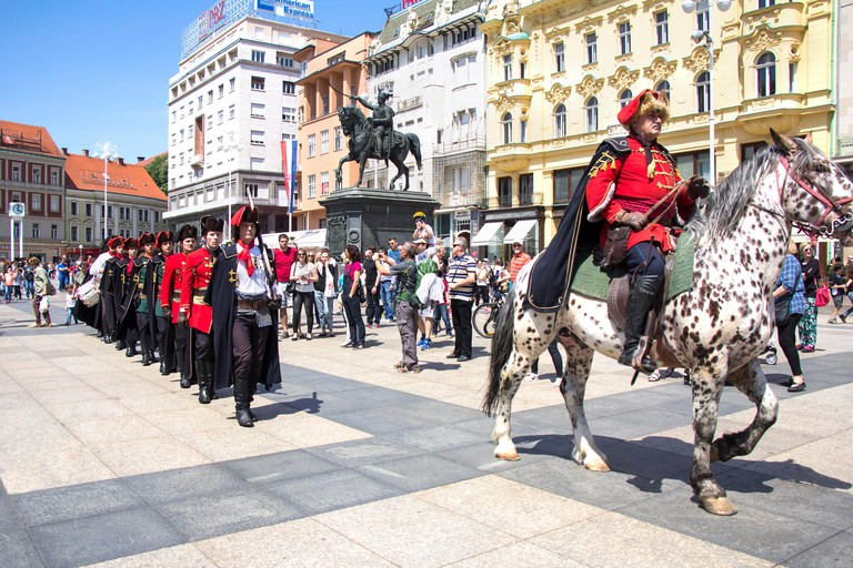 The honorary Cravat Regiment in Zagreb, Croatia