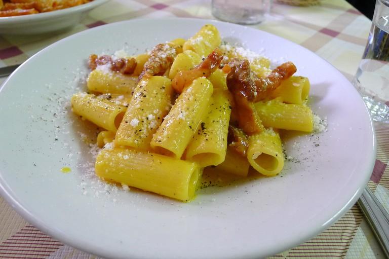 A plate of Carbonara