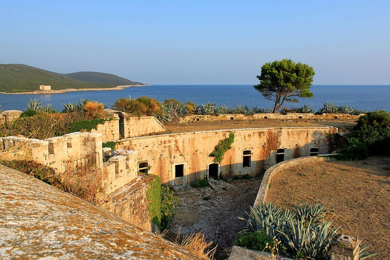 The abandoned fort on Mamula Island in Montenegr
