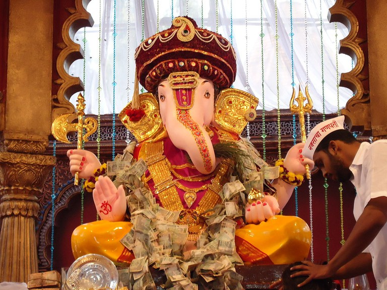 Ganesh Chaturthi is a 10-day festival that commemorates the birth of Hindu god Ganesha