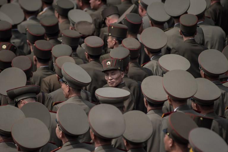 TOPSHOT-NKOREA-MILITARY-PARADE-POLITICS